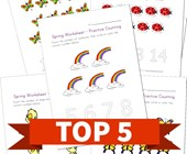 Top 5 Spring Themed Counting Kids Activities