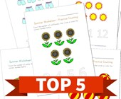 Top 5 Summer Themed Counting Kids Activities