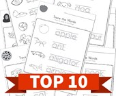 Top 10 Trace Words Kids Activities
