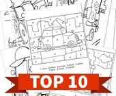 Top 10 Vehicles Themed Printable Activities