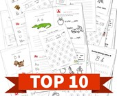 Top 10 Worksheets by Letter Kids Activities