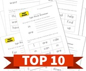 Top 10 Write and Identify Sight Words Kids Activities
