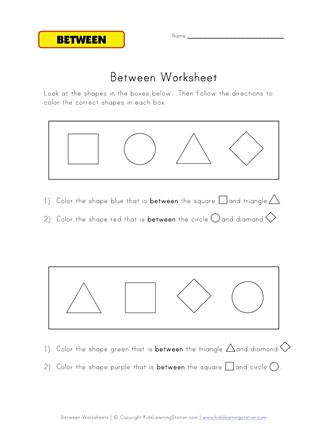color between worksheet