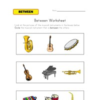 between worksheet music