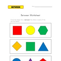 learn between worksheet