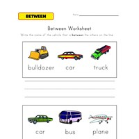 between worksheet vehicles