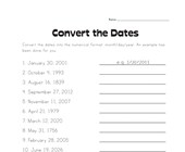 Convert the Dates Worksheet