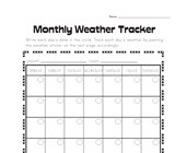 Monthly Weather Tracking Worksheet
