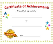 certificate of achievement