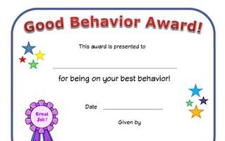award certificates for
