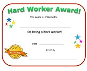 hard worker award