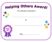 helping others award