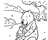 Color by Number: Pooh with Hunny