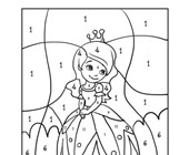 Princess Color by Numbers