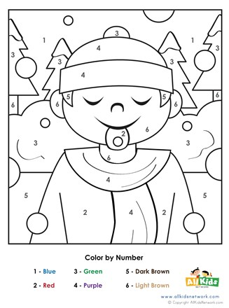 Winter Color by Number  All Kids Network