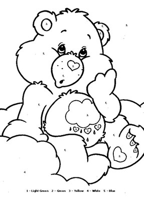 Care Bears Color By Numbers