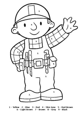 Color By Numbers Bob The Builder