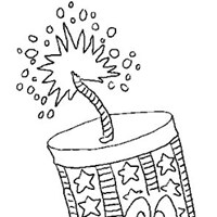 4th of july firecracker 2 coloring page