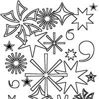 4th of july fireworks 2 coloring page