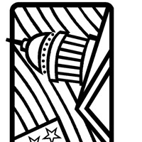 4th of july flag capital coloring page