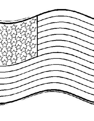 4th of july flag patriotic coloring page