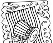 4th of july flag coloring page
