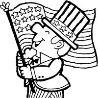 4th of july marching guy coloring page