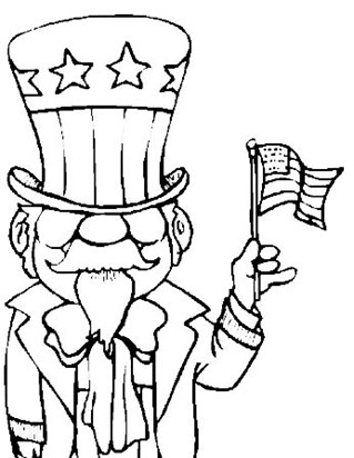 4th of july patriot coloring page