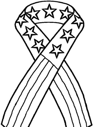 4th of July Coloring Page - 4th of july patriotic ribbon ...