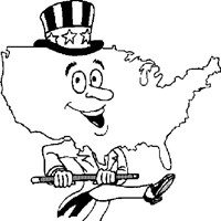 4th of july usa coloring page