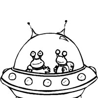 alien space ship coloring page