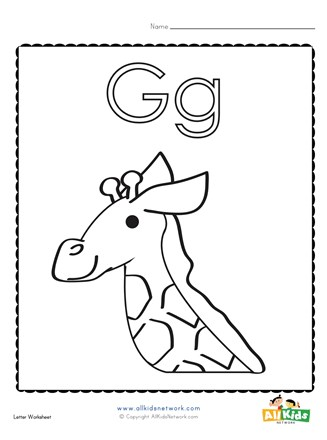 Coloring Page For The Letter G All Kids Network