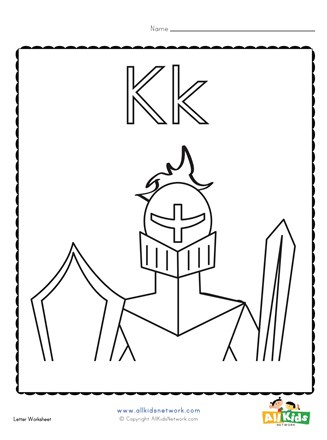 Coloring Page For The Letter K All Kids Network