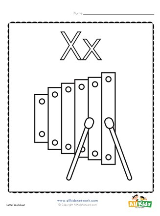 Coloring Page For The Letter X All Kids Network