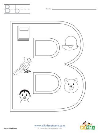 Letter B Coloring Page All Kids Network
