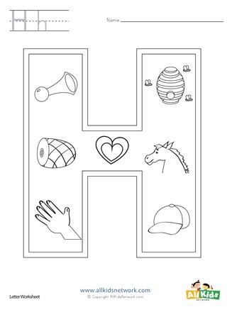 Letter H Coloring Page All Kids Network
