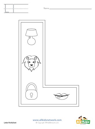Letter L Coloring Page All Kids Network
