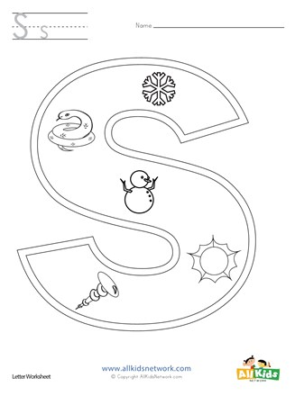 Letter S Coloring Page All Kids Network