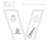Letter V Coloring Page