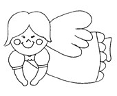 angel coloring page coloring page