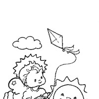 angel sun kite coloring page