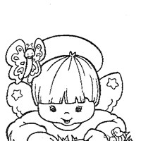color angel coloring page