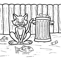 alley cat coloring page