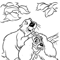 beaver lady coloring page