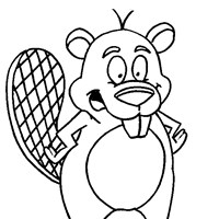 beaver teeth coloring page