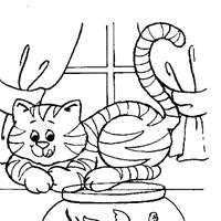 cat fish coloring page