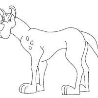 dog big coloring page
