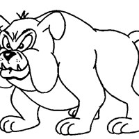 dog bulldog coloring page