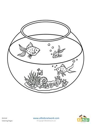 fish bowl coloring page : Printable Coloring Sheet ~ Anbu Coloring ...   440x327
