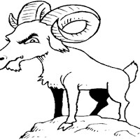 goat billy coloring page